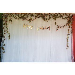 Happy Birthday Flower Backdrop