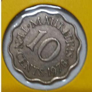 Vintage Queen Elizabeth II Mauritius 10 Cent Coin 1978