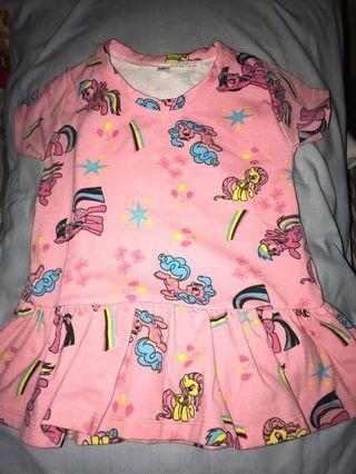 Dress bayi little pony