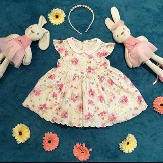 Baby girl newborn mothercare dress floral cotton