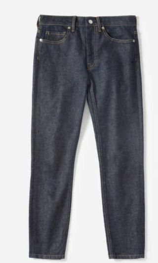 Everlane high rise skinny Jeans in dark indigo