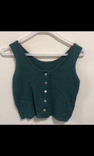 🚚 綠色短版針織