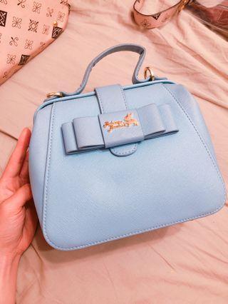 Rebecca bonbon 醫生包 蝴蝶結 藍色 小包