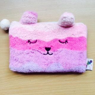 🚚 Fluffy pink and purple pencil case