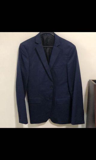 🚚 zara深藍西裝外套