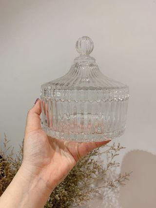 🚚 限時搶購!全新 現貨 優雅質感 玻璃儲物罐 飾品收納用 擺飾 (大)