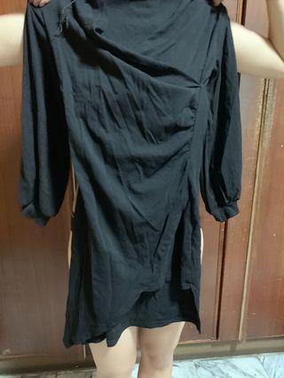 🚚 黑色 棉質 洋裝