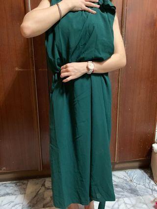 🚚 綠色 連身褲