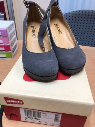 Clarks Shoes grey suede