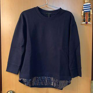 NEW J crew Navy Cotton Sweatshirt