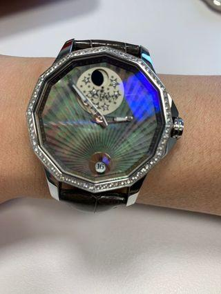 Authentic CORUM Mother of peal with diamond