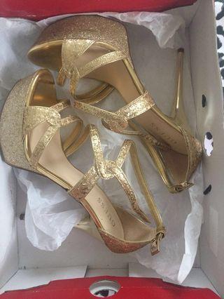 Guess Gold Glitter Stilettos