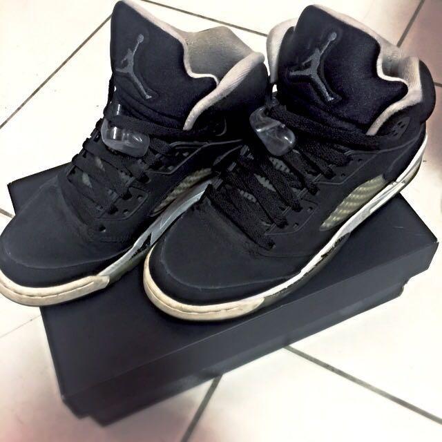 8.5成新@jordan五代oreo女鞋5Y