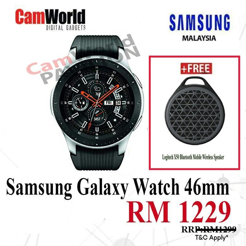 ||  SAMSUNG GALAXY WATCH R800 46MM BLUETOOTH SMARTWATCH + LOGITECH WIRELESS SPEAKER ||
