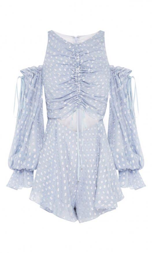 Alice McCall Did It Again Playsuit in Pebble Size 6
