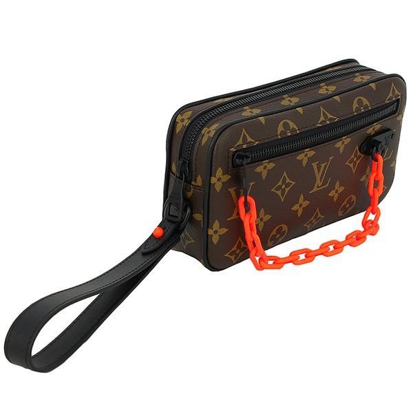 Auth Louis Vuitton Virgil Abloh Pochette Volga Monogram Clutch Handbag