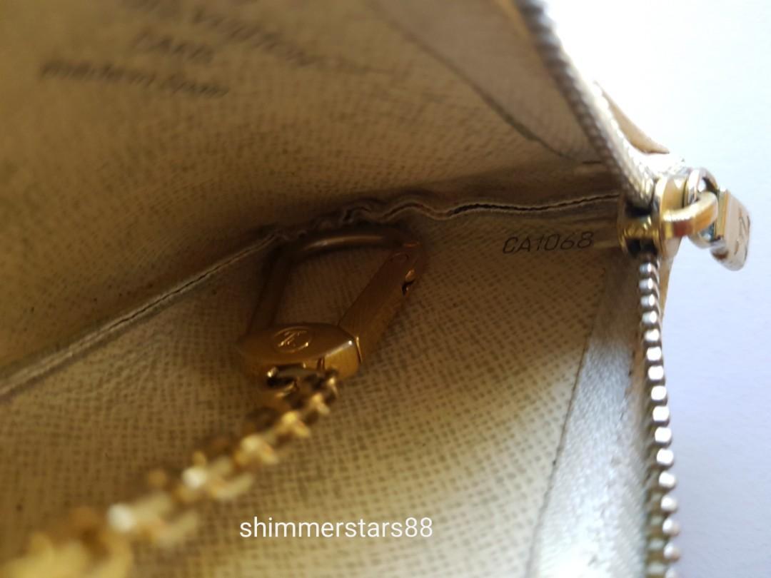 Authentic Louis Vuitton LV Pochette Cles Damier Azur Coin Purse Key Pouch, free postage