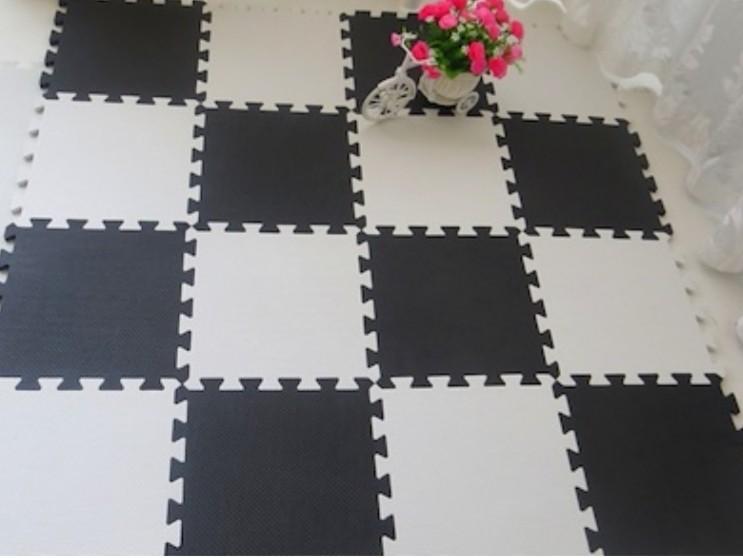 Black eva foam mat