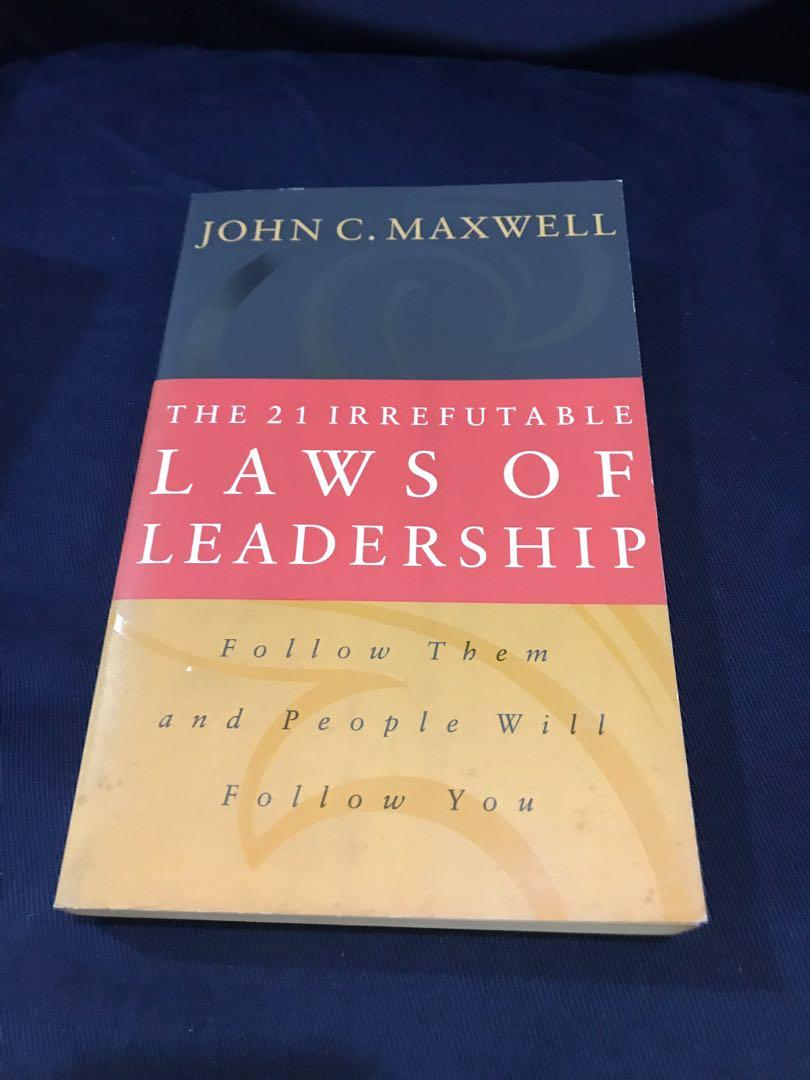 Books for Sale! Onward, President is Missing, 21 Irrefutable Laws of Leadership