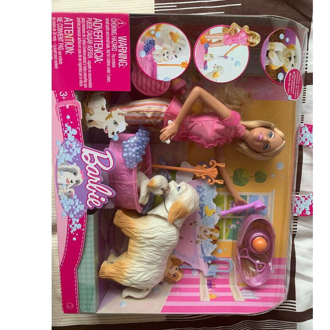 Brand new Barbie set - dog grooming