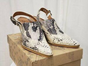 BRAND NEW FREE PEOPLE AUTHENTIC LEATHER snakeskin mule shoes