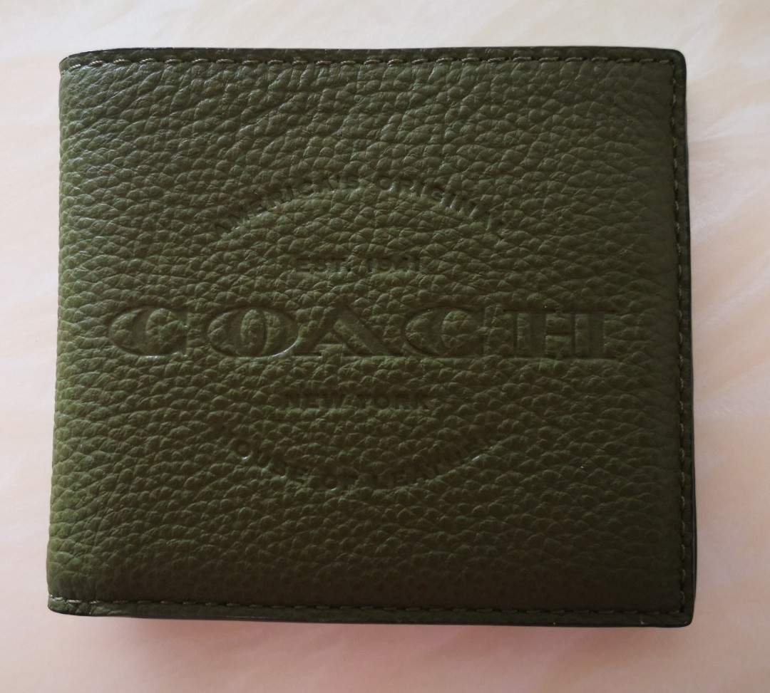 226b8689 Brand new olive greencoach wallet for men