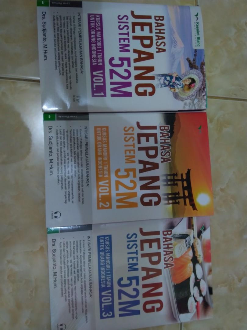 Buku belajar bahasa jepang mandiri sistem 52 minggu