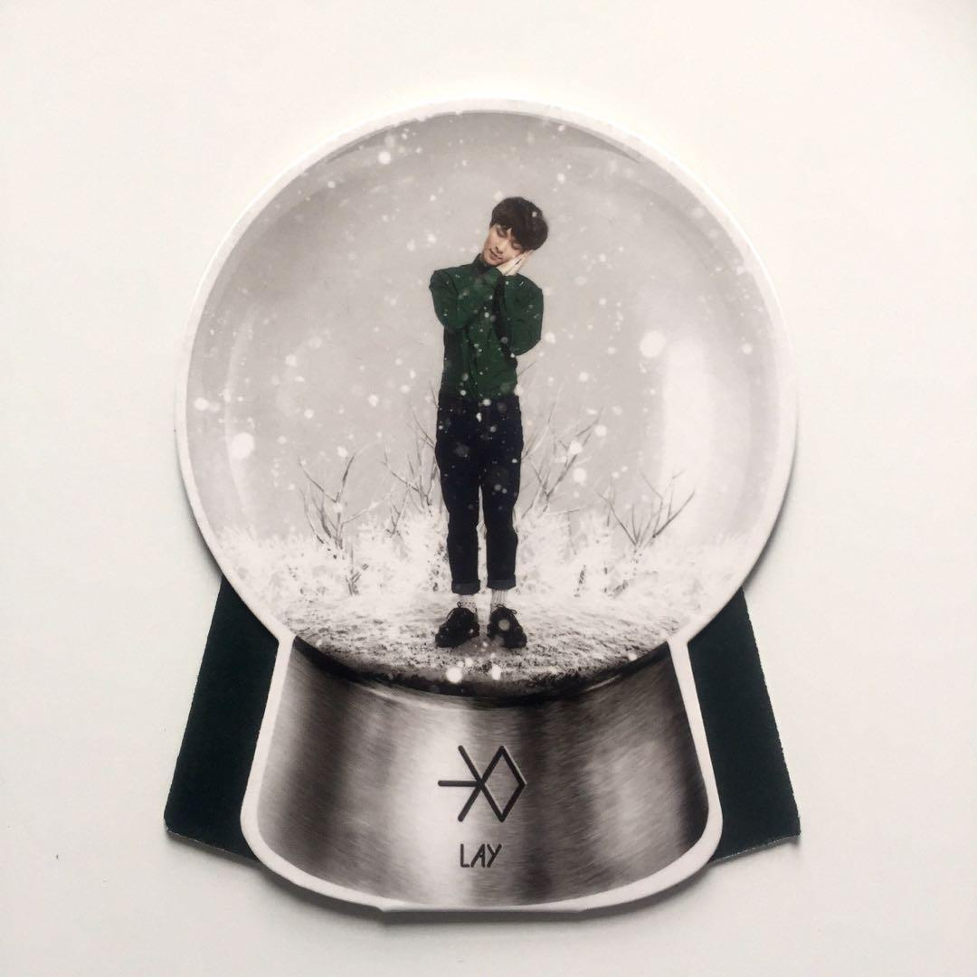 EXO Miracle In December Album with Official Lay Yixing Snow Globe