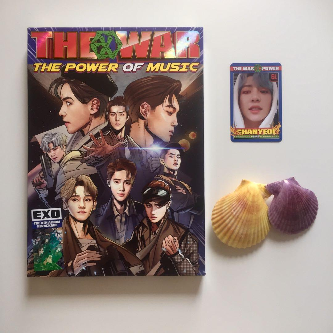 EXO The War: The Power of Music Album with Official Chanyeol Photocard