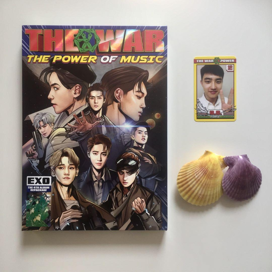EXO The War: The Power of Music Album with Official D.O. Kyungsoo Photocard