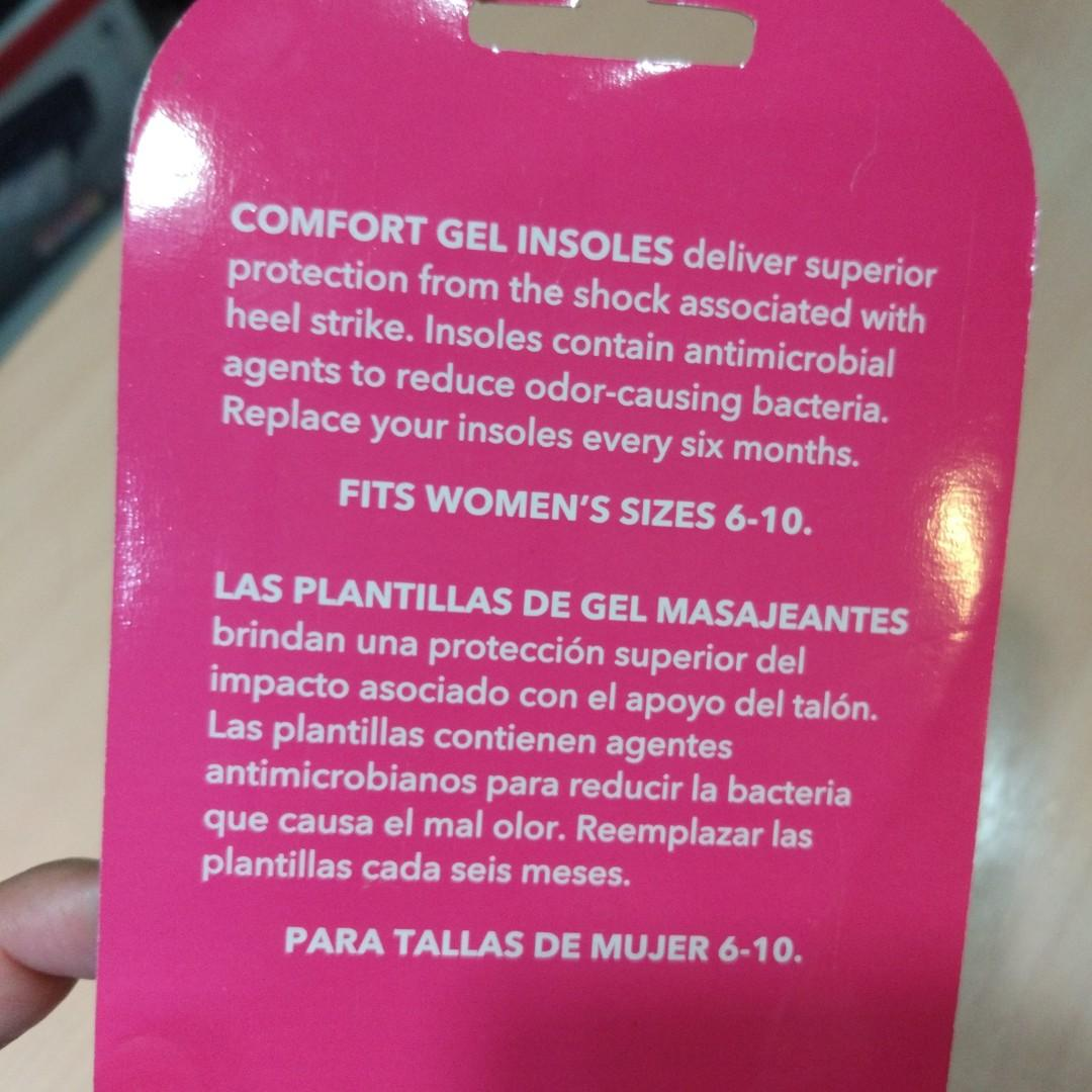 Gel Insoles for Woman's Shoes size 6-10