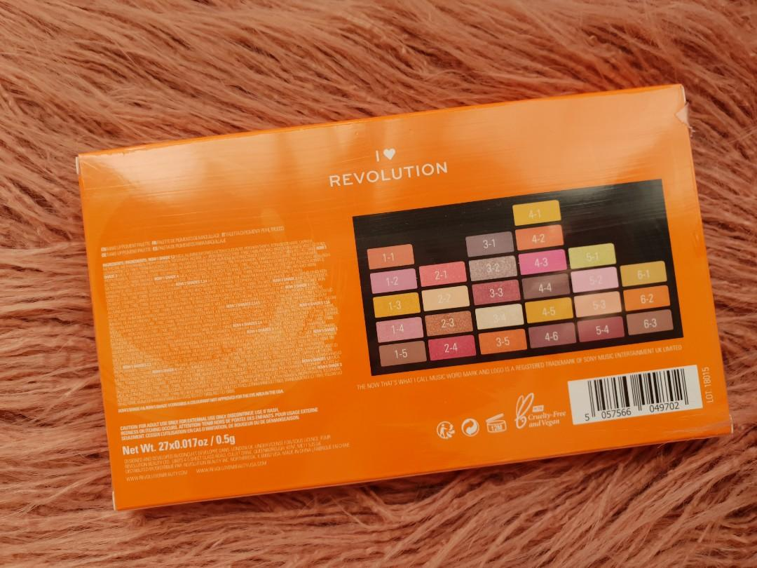 I ❤ revolution eyeshadow palette