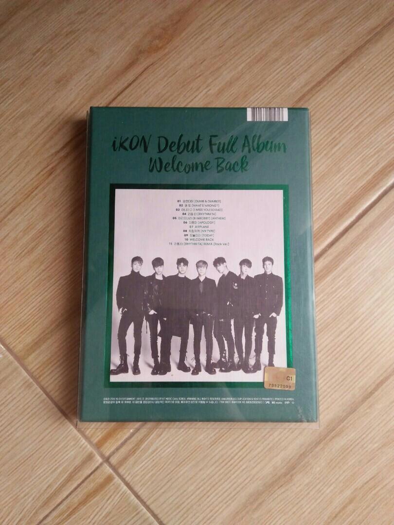 IKON - Debut Full Album Welcome Back (No Poster)