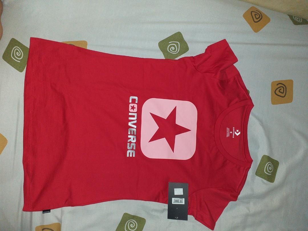 """Kaos converse merah original """"S"""" (women)"""