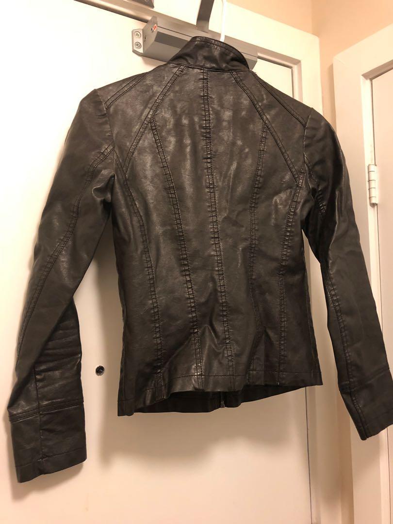 """""""leather"""" jacket"""