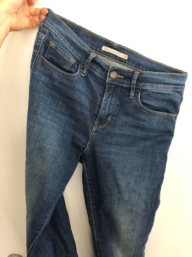 Levi's Premium 721, High Rise Skinny Jeans, Size 27