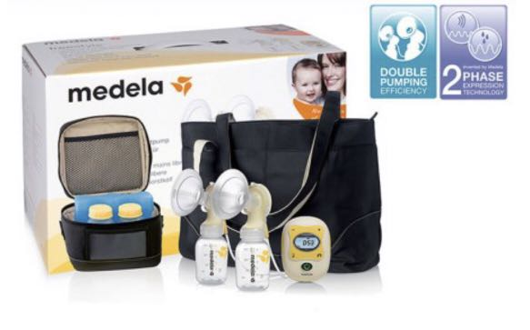Medela Freestyle Electric Milk Pump With Double pump-set and Calma Dummy