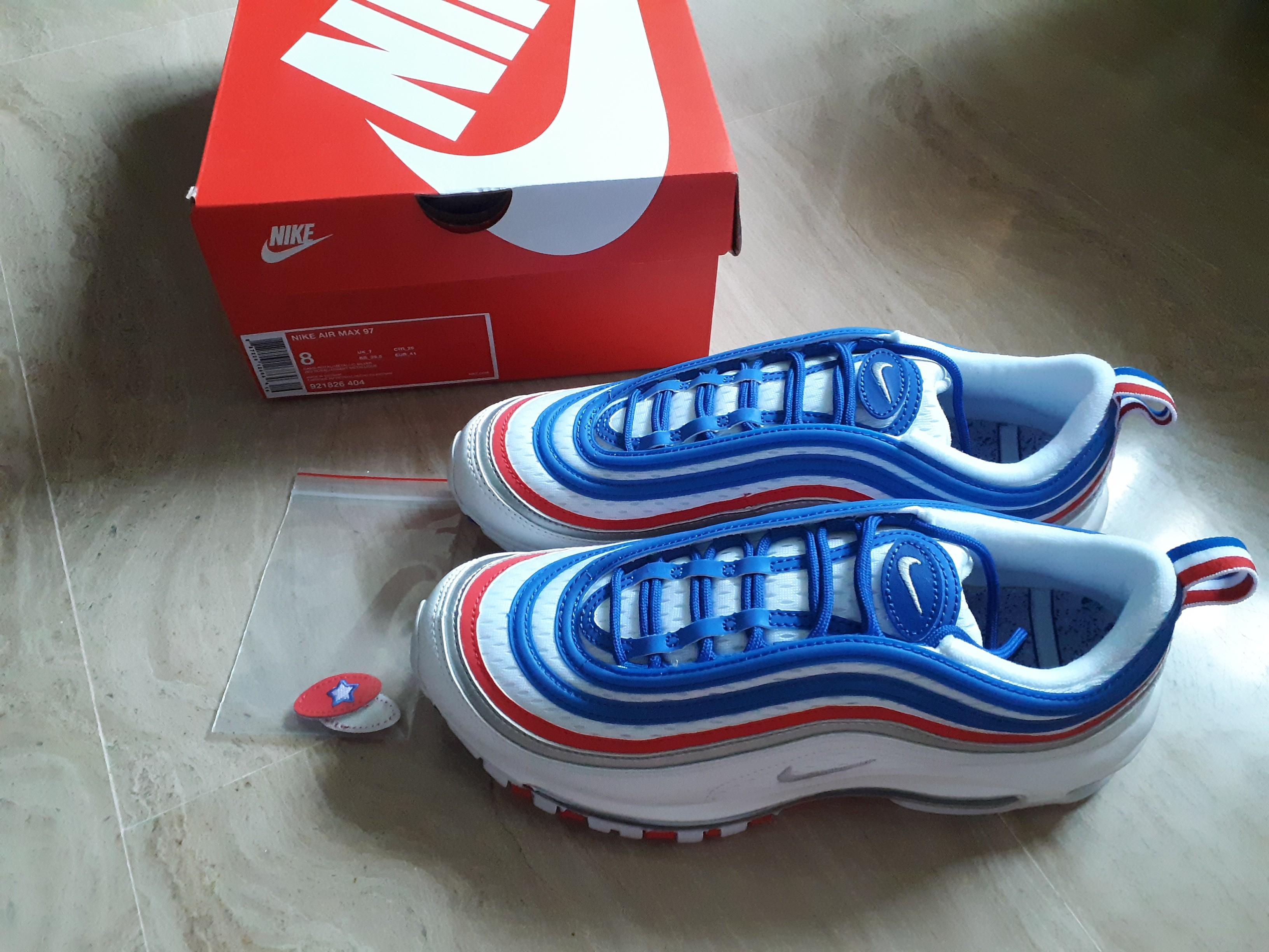 air max 97 blue and white red