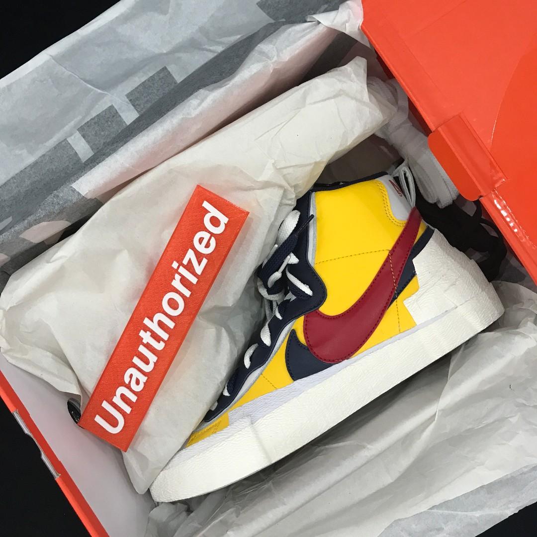 5504f412 Nike x Sacai Blazer Mid, Men's Fashion, Footwear, Sneakers on Carousell
