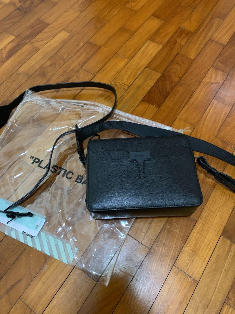 Off white black camera bag