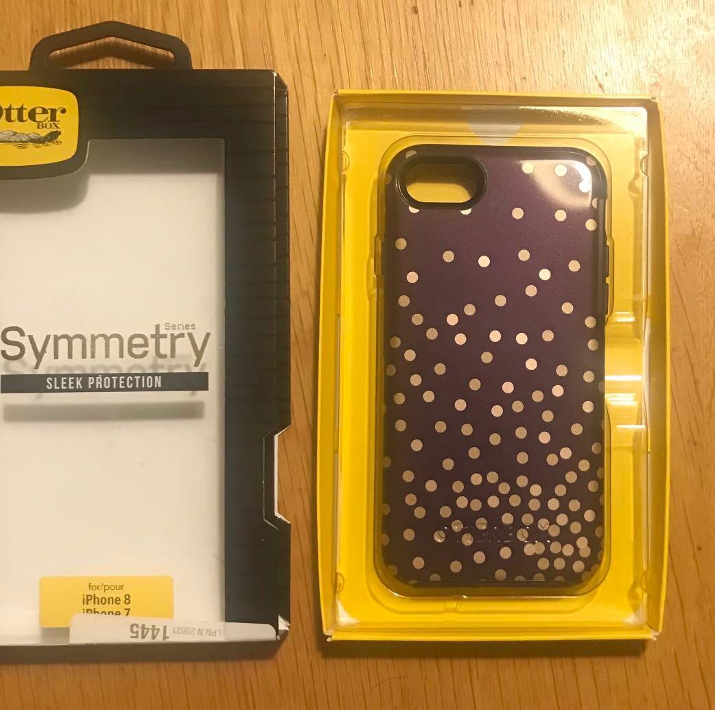 Otterbox phonecase purple with gold for iPhone 8 and 7