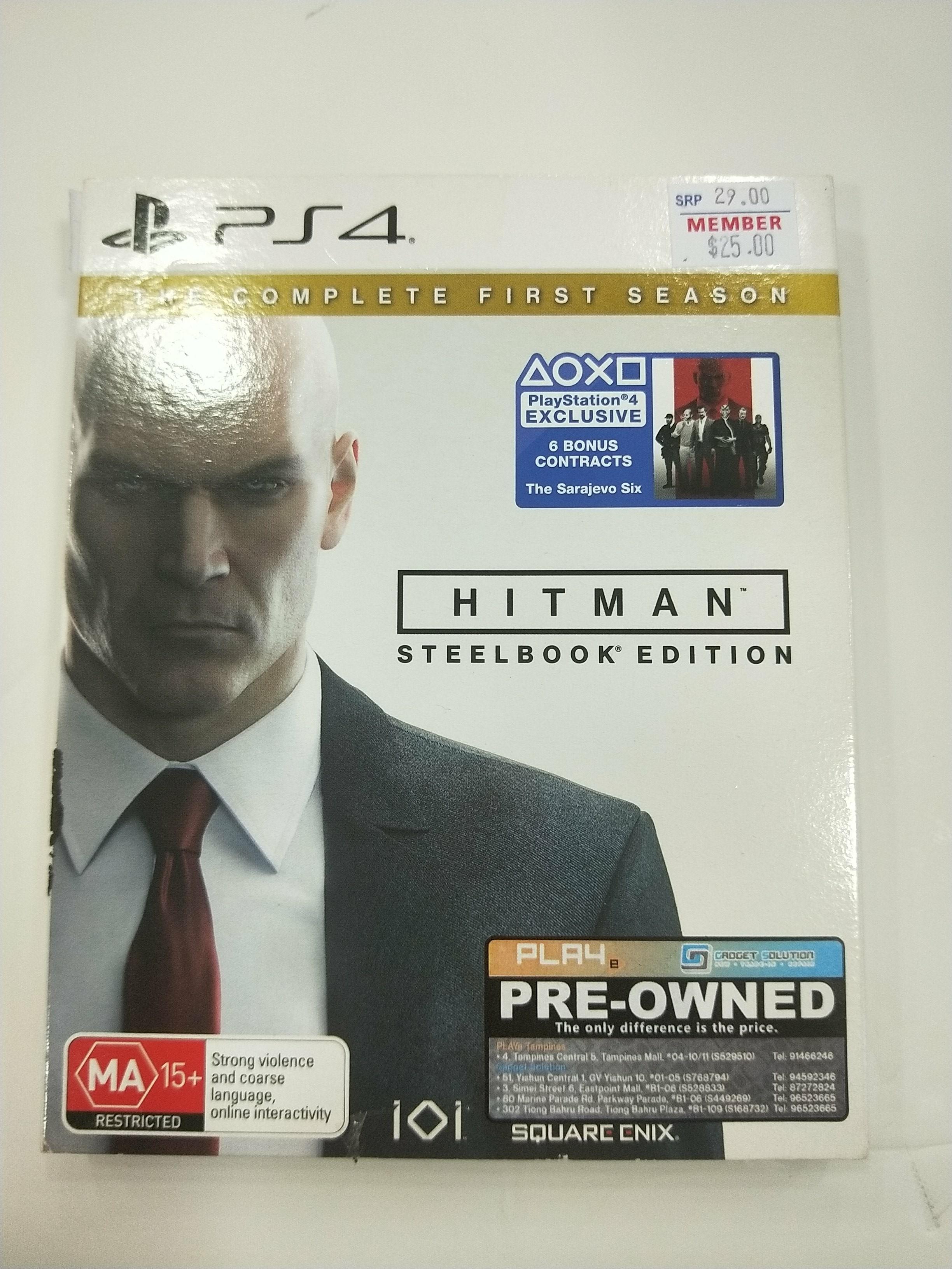 PS4 Hitman Steelbook Edition
