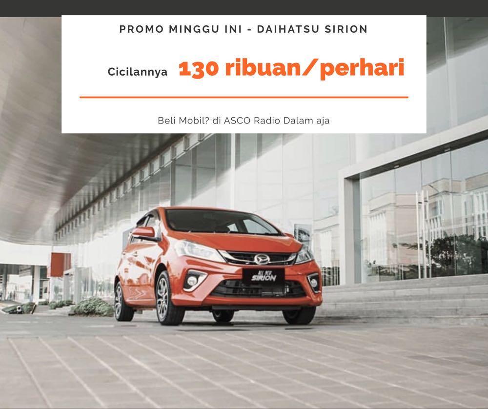 READY STOCK 1 UNIT Daihatsu Sirion 2018 DP MURAH 25 jutaan