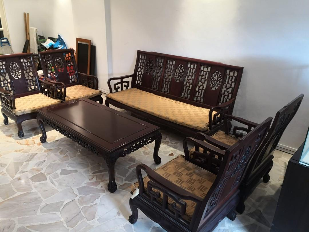 Rosewood Furniture Living Room Set Furniture Tables Chairs On