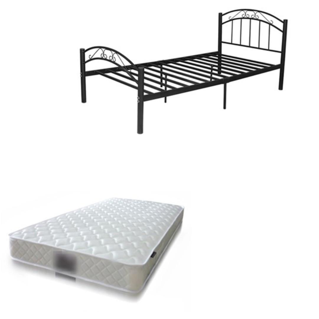 Selling brand new single bed frame ( double/ single) with mattress from $ 180