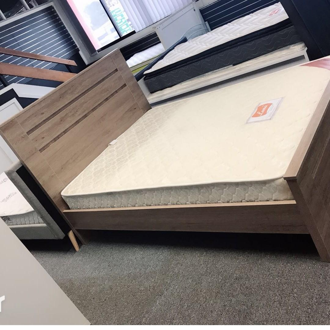 Selling brand new wooden bed frame with mattress starting from $520