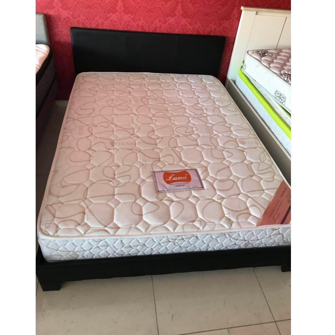 Selling PU bed frame with mattress ( Single, double, queen) from $ 250