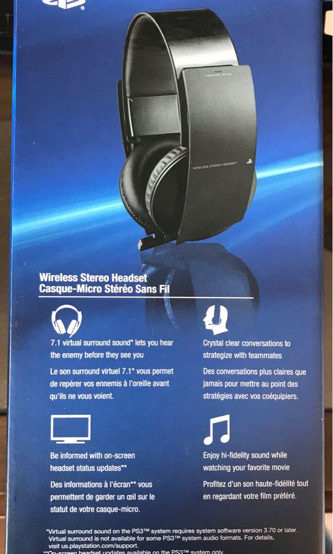 Sony Wireless Bluetooth Headset with Retractable Microphone and USB