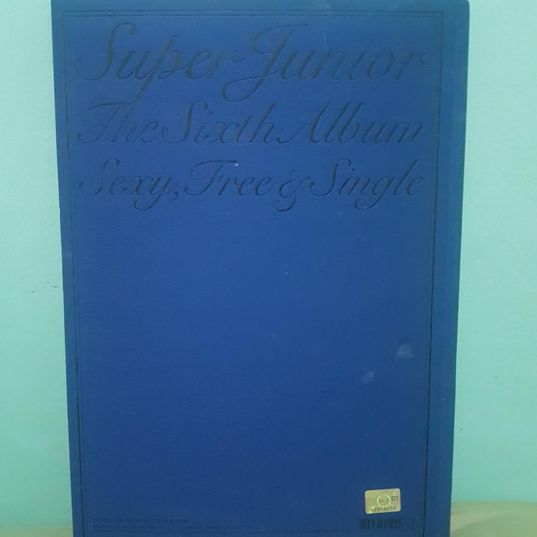 SUPER JUNIOR 6TH ALBUM. SEXY, FREE , AND SINGLE