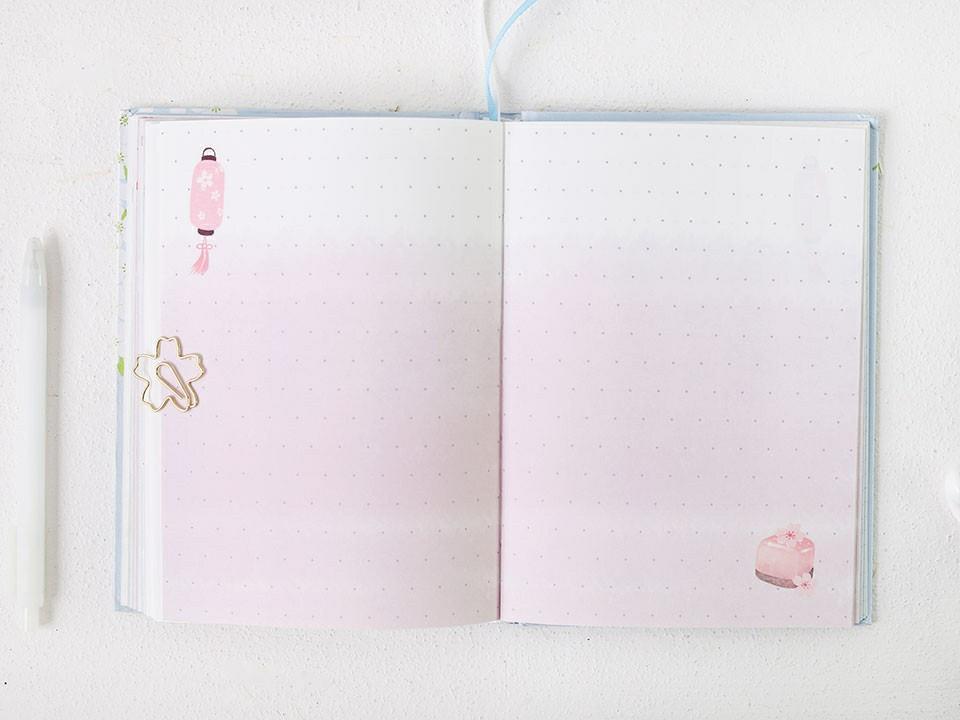 The Language of Sakura Hardcover Planner Notebook B6
